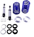 C2 C3 Corvette 1963-1982 Front Coilover Shock Kit - Single or Double Adjustment - 400# & 550# Spring Rate Options