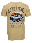 C4 Corvette 1984-1996 Watercolor Route 66 Themed T-Shirt