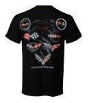 Universal Corvette 1953-2014+ The Legend Lives On T-Shirt - Black or White