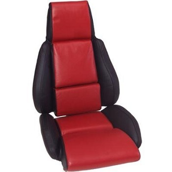 Corvette C4 84-96 Leather Seat Cover Replacements 2-Tone/Accent Stitched