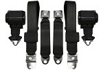 Late 1968-69 Corvette Lap Belt w/ Shoulder Belt, OE Style Pair