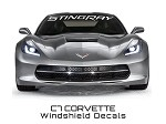 C7 Corvette Stingray 2014 + Windshield Lettering STINGRAY Script