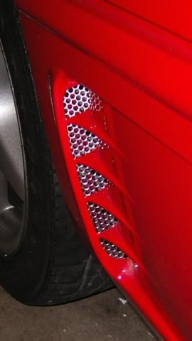 Corvette Side Vents Perforated 2Pc 1995-1996 C4