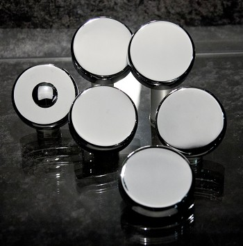 Corvette Cap Cover Set Basic Chrome - Auto/Manual Options