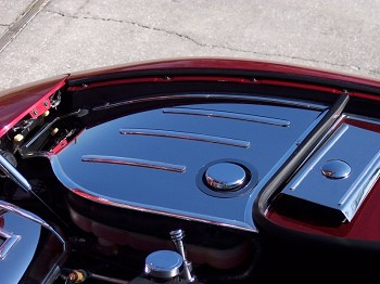 Corvette Inner Fender Covers w/Chrome Cap Covers 1997-2004 C5 & Z06