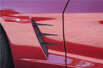 Corvette C6 Blakk Stealth Perforated Side Vent/Spear Combo