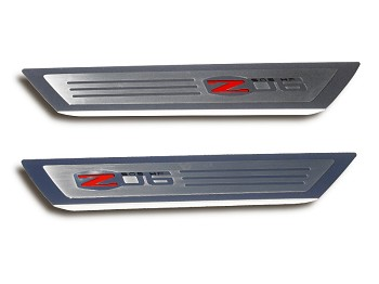 2006-2013 C6 Corvette Doorsills Executive Series Z06 Logo Inlay