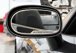 "Corvette Side View Mirror Trim 2Pc ""Supercharged"" Script 2005-2013 C6 Standard Mirror"