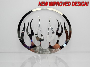 2005-2013 C6 Corvette Taillight Covers Polished Flame Style 4Pc