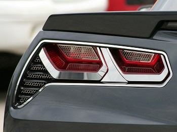 C7 Corvette Stingray 2014+ Taillight Trim Kit - Polished or Brushed