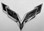 C7 Corvette Stingray 2014+ Front/Rear Flag Emblem Overlay Sets (Blackouts) - Multiple Color Options