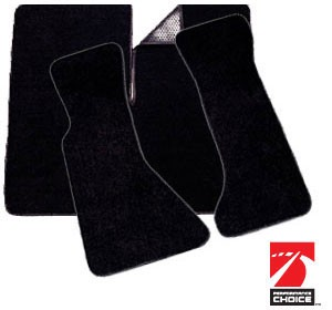 1984-1996 C4 Corvette Basic Black Floor/Cargo Mats