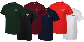 C3 C4 C5 C6 Men's Corvette Pocket T-Shirt