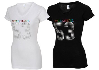 Ladies CORVETTE Multi Media V-Neck Tee