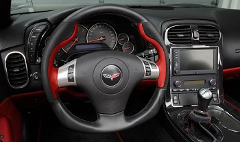 2005-2013 C6 Corvette D Style Leather Steering Wheel
