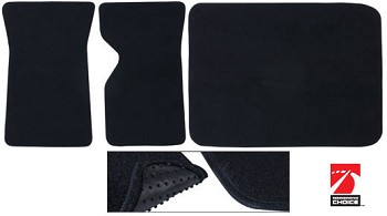 1968-1982 C3 Corvette Basic Black Floor/Cargo Mats