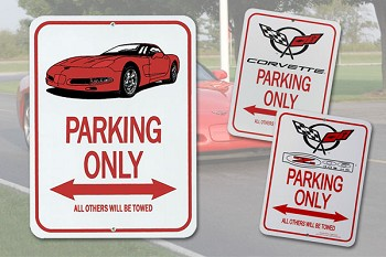 C5 Corvette Metal Street Signs