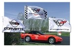 C4 C5 C6 Corvette 1984-2013 Flag - Optional Flag Pole