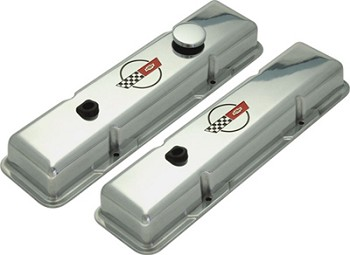 Corvette C4 84-91 Valve Covers Polished w/ C4 Logo