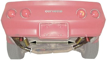 Polished Stainless Steel C3 Corvette Mufflers For Your 1974-1982