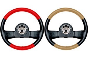 C4 Corvette Steering Wheels In Two-Tone Leathers 84-89