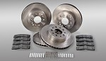 1984-87 C4 Corvette Replacement Front and Rear Brake Rotor and Pad Kit, Car Set