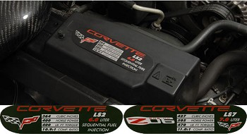 C6 Coupe, Vert, Grand Sport, ZR1 & Z06 Corvette ID Spec Plates 05-13