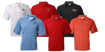 C3 C4 C5 C6 Corvette Polo Men's Logo & Script