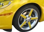 Corvette Color Matched C6 Corvette Wheel Spoke Accents