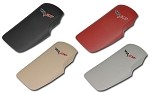 C6  Corvette Leather  Embroidered Console Lid - 4 Color Selections
