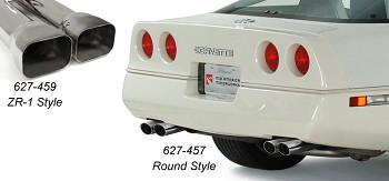 Corvette Stainless Steel Monza Style Muffler For Your C4 Exhaust