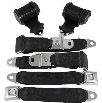 1970-1982 C3 Corvette Retro Belt 3 Point Lap & Shoulder Retractable Seat Belt System