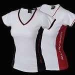 LADIES C6 CORVETTE SIDE PANEL V-NECK SHIRT