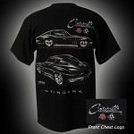 C3 Corvette 1968-1982 Stingray T-Shirt - Black