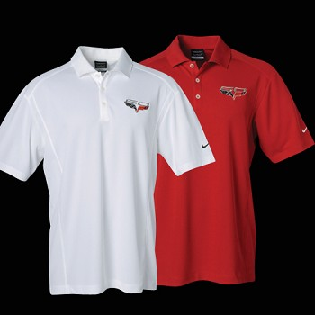 C6 Corvette 60th Anniversary Logo Nike DriFit Polo Shirt