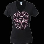 LADIES C6 CORVETTE POSTAGE SEAL T-SHIRT