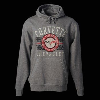 CORVETTE DRIVING AMERICA HOODED SWEATSHIRT
