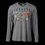 C3 C4 C5 C6 Corvette 1953-2013 Mens Long Sleeve Decals T-Shirt