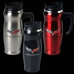C6 STAINLESS MUG WITH HANDLE
