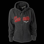 LADIES CORVETTE FULL ZIP TRACK JACKET W/HOOD