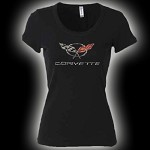 C5 C6 and 60th Anniversary RHINESTONE LADIES T'S