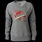 Corvette HEATHER GREY Ladies SCOOP CREW