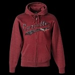Corvette HEATHER CARDINAL MEN'S ZIP HOODIE