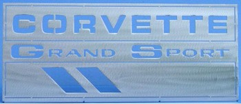 C4 Corvette 97-04 Brushed Mounted Emblems - Multiple Logo Options