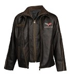 1968-2013 C3 C4 C5 C6 Corvette Racer Heavy Weight Leather Jacket - Regular