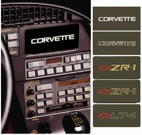 Corvette C4 84-89 and 90-96 Information Center Coverplates