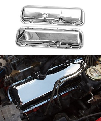 1968-1974 Corvette C3 Chrome Valve Covers - Big/Small Block