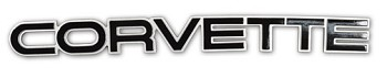 1984 -90 C4 Corvette Rear Emblem Glossy Black