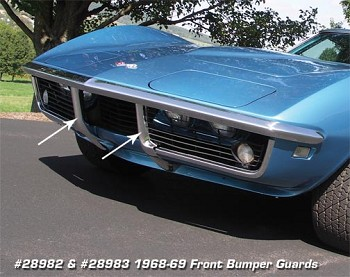 1968-72 C3 Corvette Front Bumper Guards