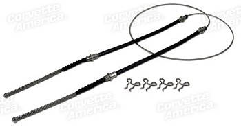 1968-1982 Corvette C3 Park Brake Cable Rear Stainless